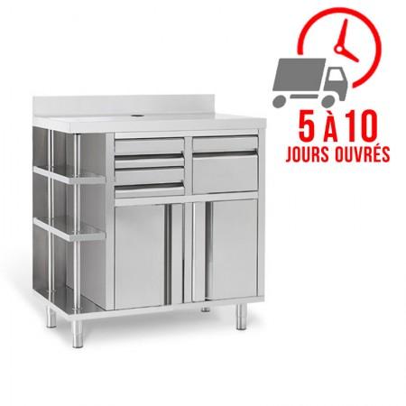 Plaque de cuisson gaz 400 x 600 mm - Surface lisse acier rectifié