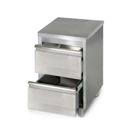 Placard 2 tiroirs / P.600 mm