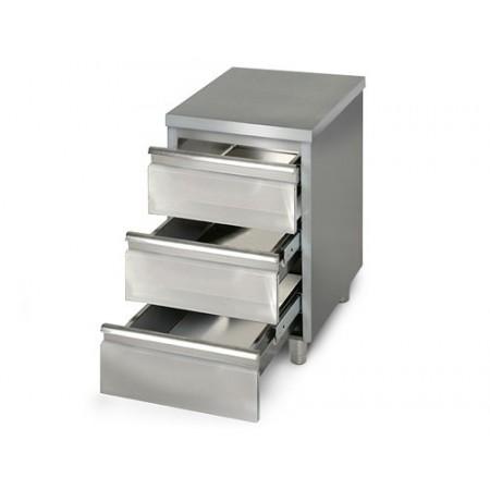 Placard 3 tiroirs / P.600 mm