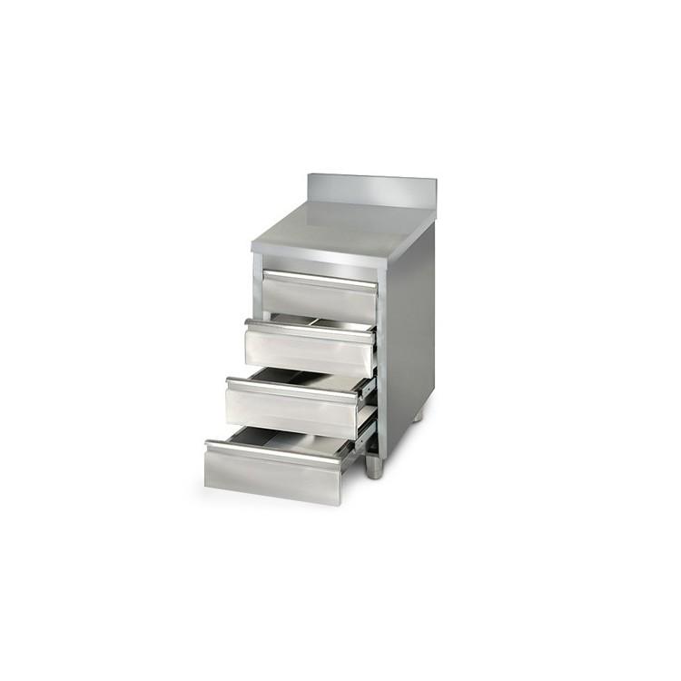 Placard 4 tiroirs adossée / P.700 mm