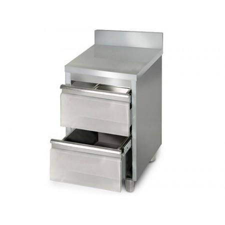 Placard 2 tiroirs adossée / P.600 mm