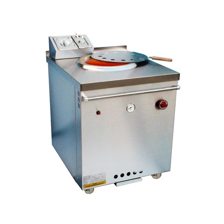 Plaque de cuisson gaz sur pieds 800 x 700 mm (13.8kW) - Surface acier chromée