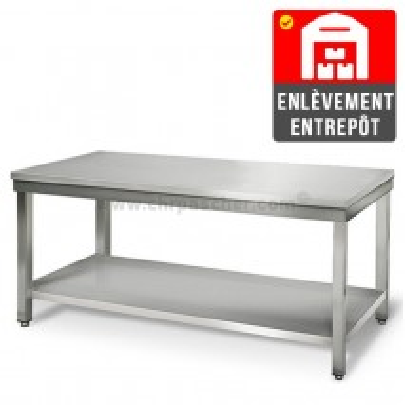 Table inox 2000 x 600 mm   Enlèvement entrepôt / CHRPASCHER