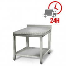 Table inox 700 x 600 mm adossée / CHRPASCHER