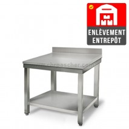 Table inox 800 x 600 mm adossée   Enlèvement entrepôt / CHRPASCHER