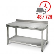 Table inox 1500 x 600 mm adossée / CHRPASCHER