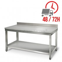 Table inox 1600 x 600 mm adossée / CHRPASCHER