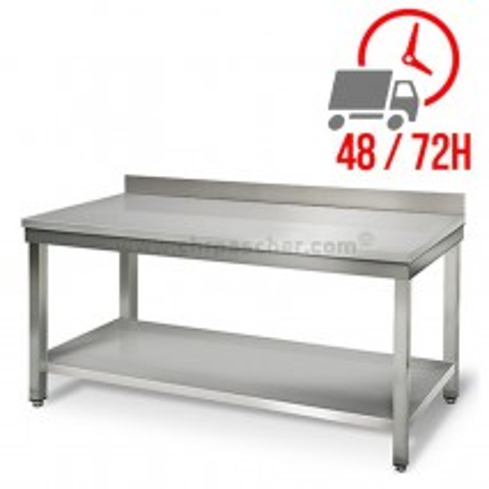 Table inox 1800 x 600 mm adossée / CHRPASCHER
