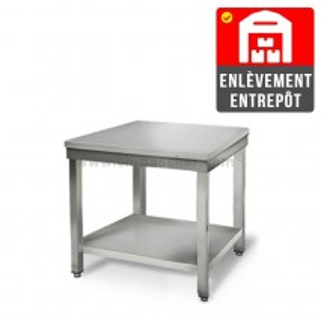 Table inox 700 x 700 mm | Enlèvement entrepôt / CHRPASCHER