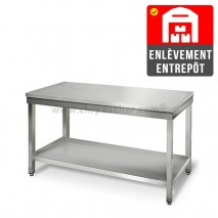 Table inox 1400 x 700 mm   Enlèvement entrepôt / CHRPASCHER