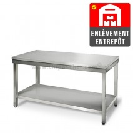 Table inox 1500 x 700 mm   Enlèvement entrepôt / CHRPASCHER