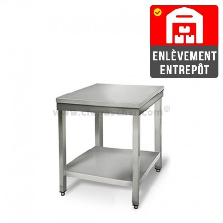 Table inox 500 x 500 mm | Enlèvement entrepôt / CHRPASCHER