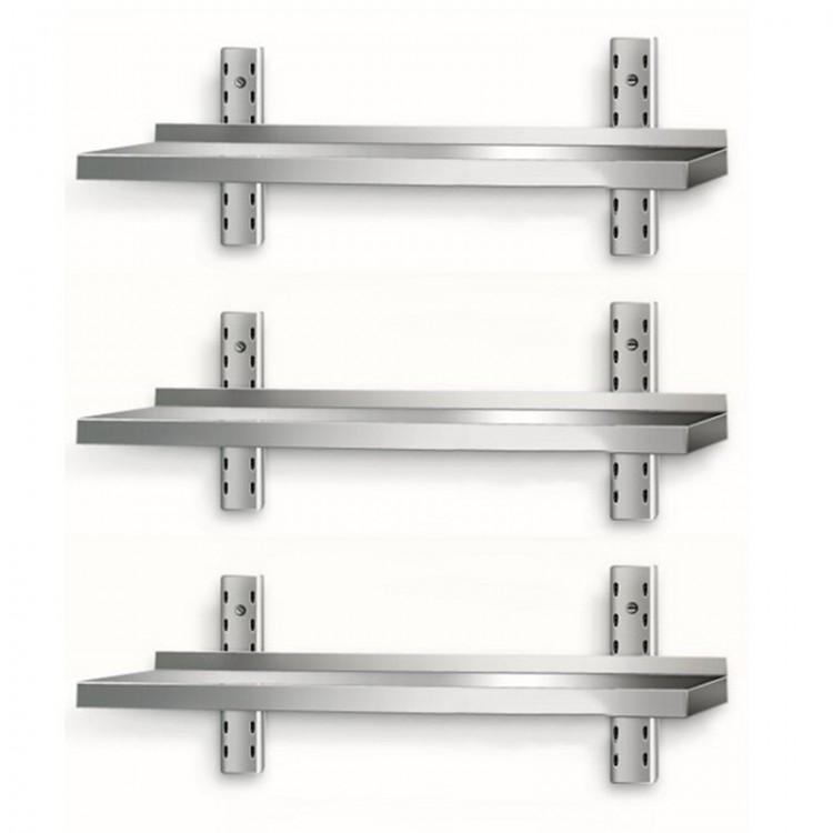 Table inox 500 x 500 mm sur roulettes / CHRPASCHER