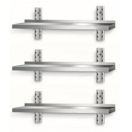 Table inox 600 x 600 mm sur roulettes / CHRPASCHER