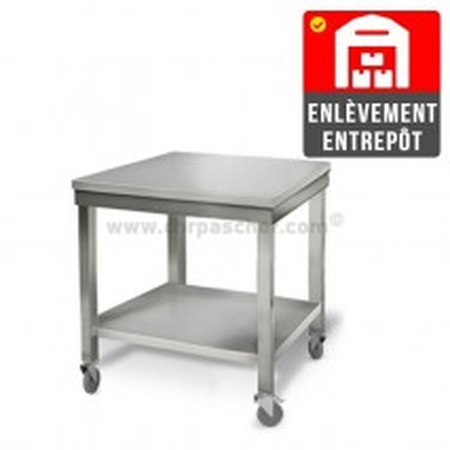 Table inox 700 x 600 mm sur roulettes | Enlèvement entrepôt / CHRPASCHER