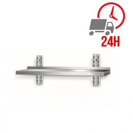 Table inox 800 x 600 mm adossée sur roulettes   Enlèvement entrepôt / CHRPASCHER