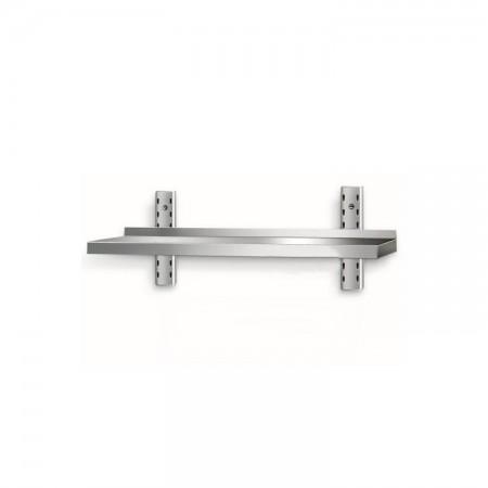 Table inox 800 x 600 mm adossée sur roulettes / CHRPASCHER