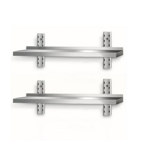 Table inox 1400 x 600 mm adossée sur roulettes | Enlèvement entrepôt / CHRPASCHER