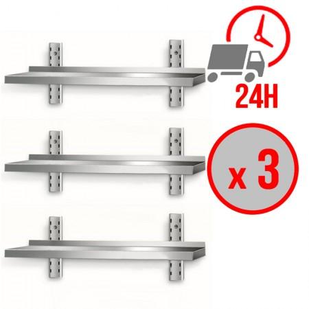Table inox 1000 x 700 mm sur roulettes / CHRPASCHER