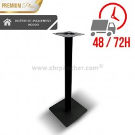 Pied de table haut Métal noir / CHRPASCHER