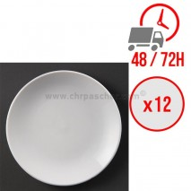 Assiettes plates rondes (Ø230 mm) / x12 / Olympia