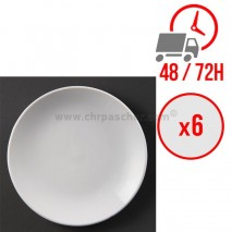 Assiettes plates rondes (Ø280 mm) / x6 / Olympia
