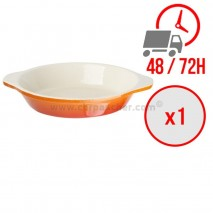Plat à gratin rond orange Ø150 mm / x1 / Vogue