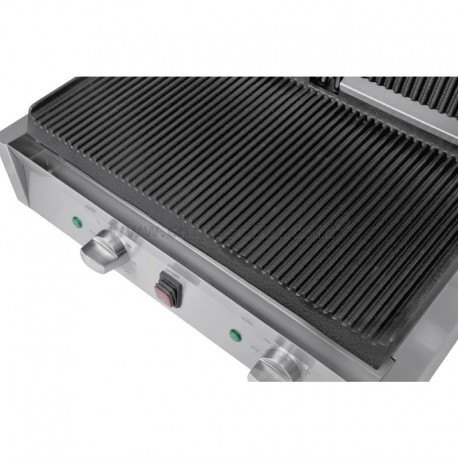 Grill de contact rainuré/rainuré double 550x395 / Buffalo