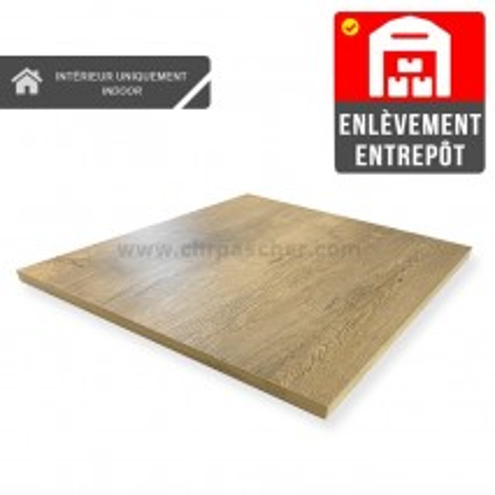 Plateau de table 60x60 cm - Chêne / CHRPASCHER   Enlèvement Entrepôt