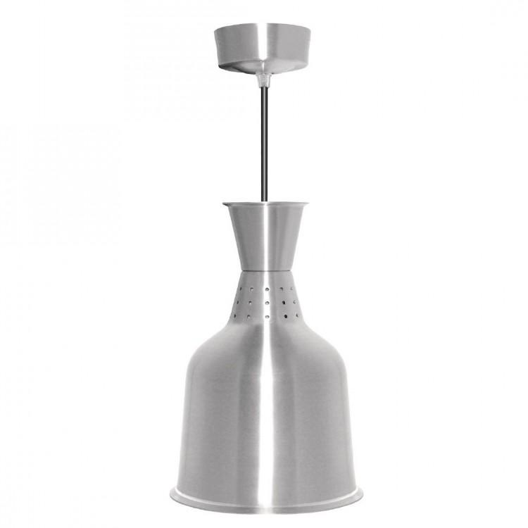 Lampe chauffante aluminium métal brossé