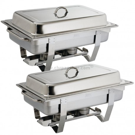 Chafing dish lot de 2