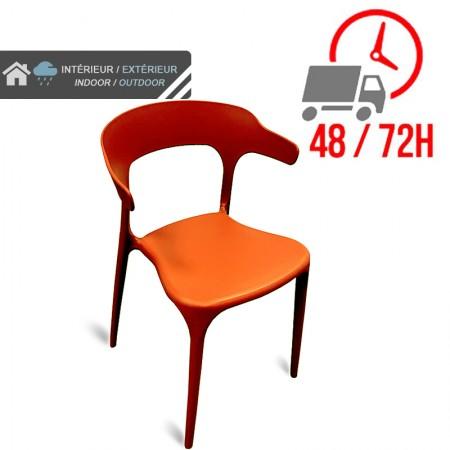 Chaise de bar Elif - Orange / CHRPASCHER | Enlèvement entrepôt