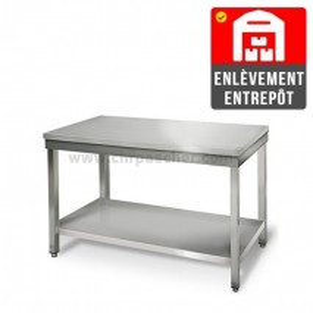 Table inox 1000 x 500 mm / GOLDINOX   Enlèvement entrepôt