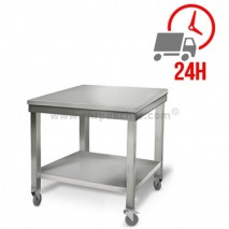 Table inox 700 x 500 mm sur roulettes / GOLDINOX