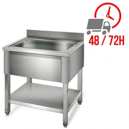 Table inox 2000 x 500 mm sur roulettes / GOLDINOX   Enlèvement entrepôt
