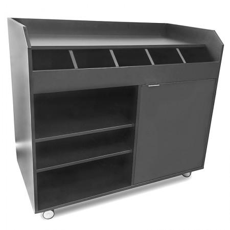 Table inox 2000 x 500 mm sur roulettes / GOLDINOX