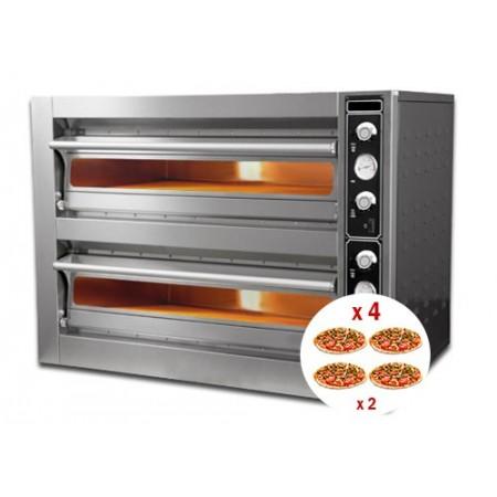 Four à pizza électrique 4 + 4 x 30 cm