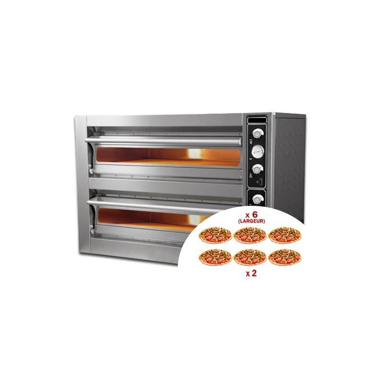 Four à pizza électrique 6 x 30 cm X2