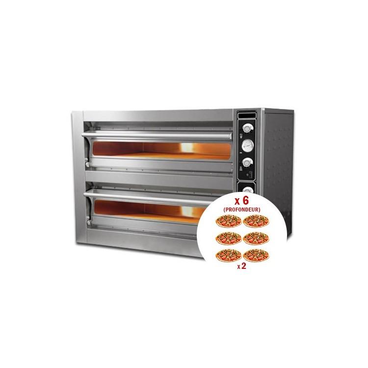Four à pizza électrique 6 + 6 x 30 cm