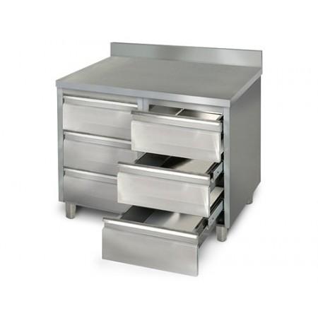 Placard 6 tiroirs adossée / P.600 mm