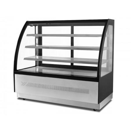 Table réfrigérée 700 / 3 portes + 2 tiroirs adossée