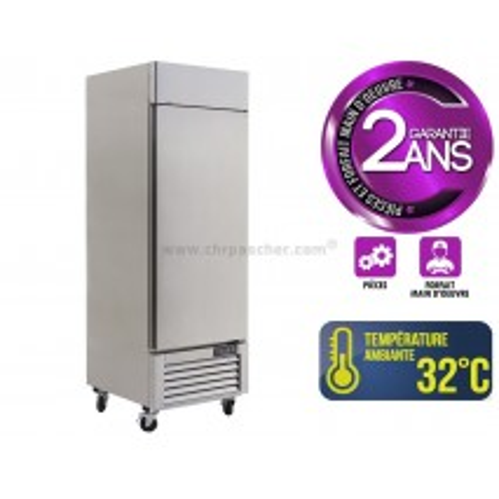 Réfrigérateur inox 580 L / 1 porte