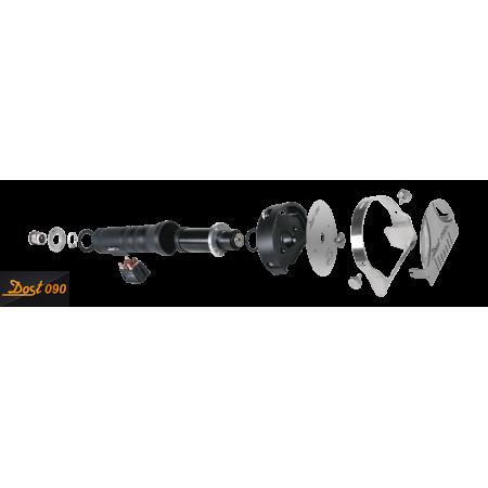 Réfrigérateur inox 600 L / GN 2/1 / 1 porte vitrée