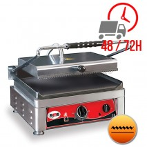 Contact Grill Rainuré Extra Large Haut et Lisse Bas - 450x270mm