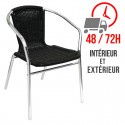 Fauteuil rotin / Empilable